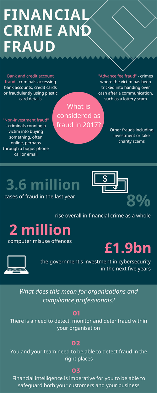 Financial Crime And Fraud Infographic